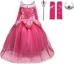 NNJXD Girls Princess Rapunzel Dress up Costume Kids Party Fancy Dresses