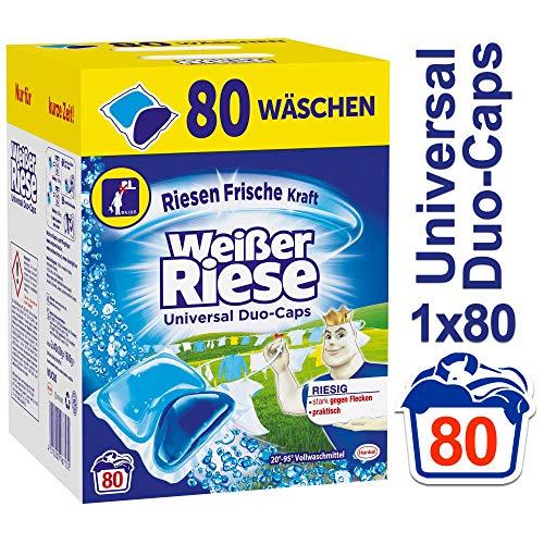 Weißer Riese Duo-Caps Universal, Vollwaschmittel, 80 Waschladungen, extra stark gegen Flecken