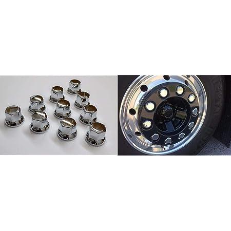 per Ruote 30 copribulloni da 32 mm in plastica cromata rimorchio Camion 24//7Auto
