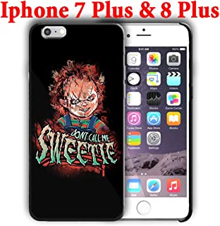Hard Case Cover with Curse of Chucky Design Compatible with iPhone 7 Plus/iPhone 8 Plus 5.5in (hall12)