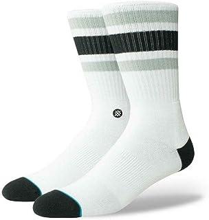 Stance - Calcetines de algodón para hombre (4 unidades), color blanco
