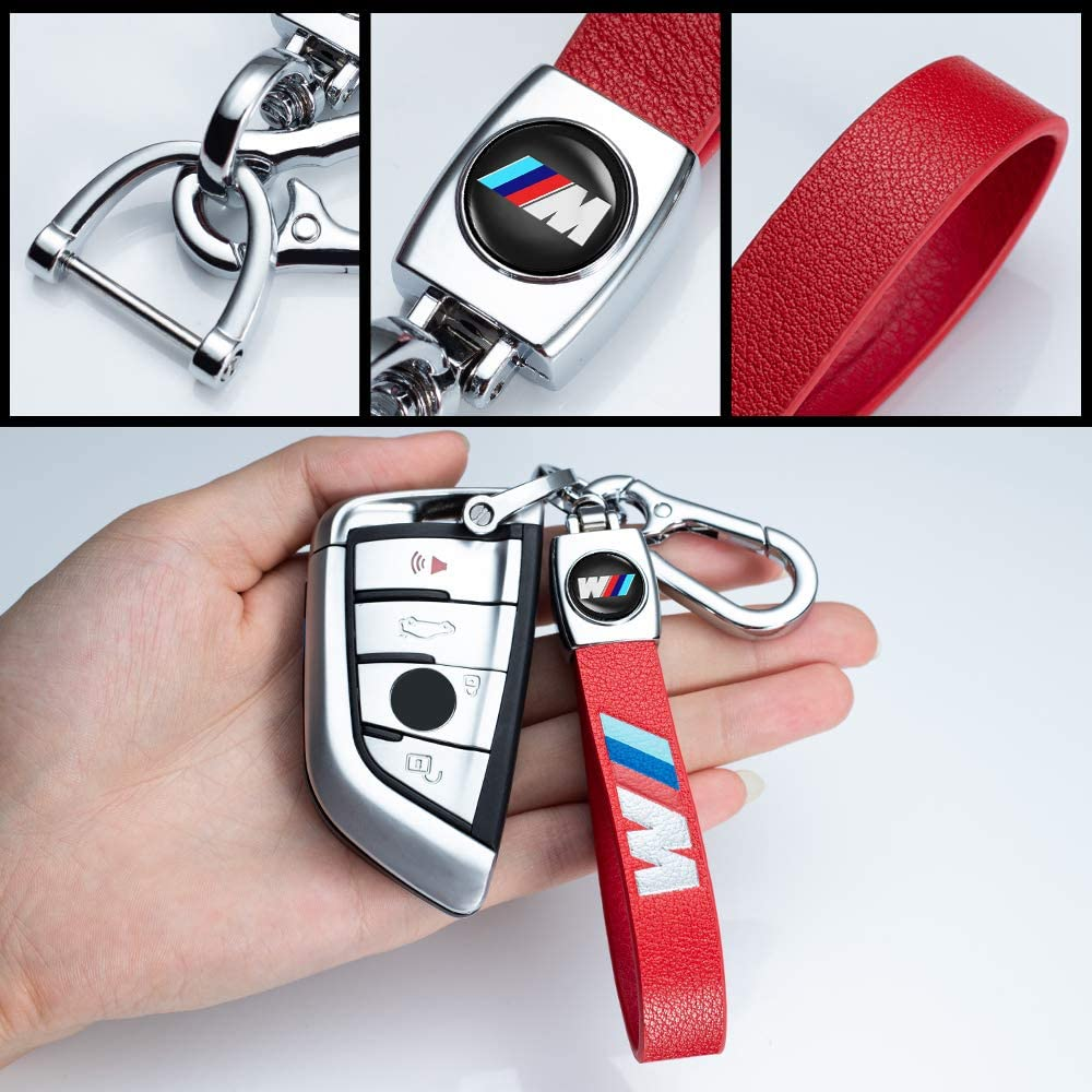 Leather Key Chain for Men Women Suit for Ford Mustang Keychain Keyring Birthday Gifts for Women Men 1PCS
