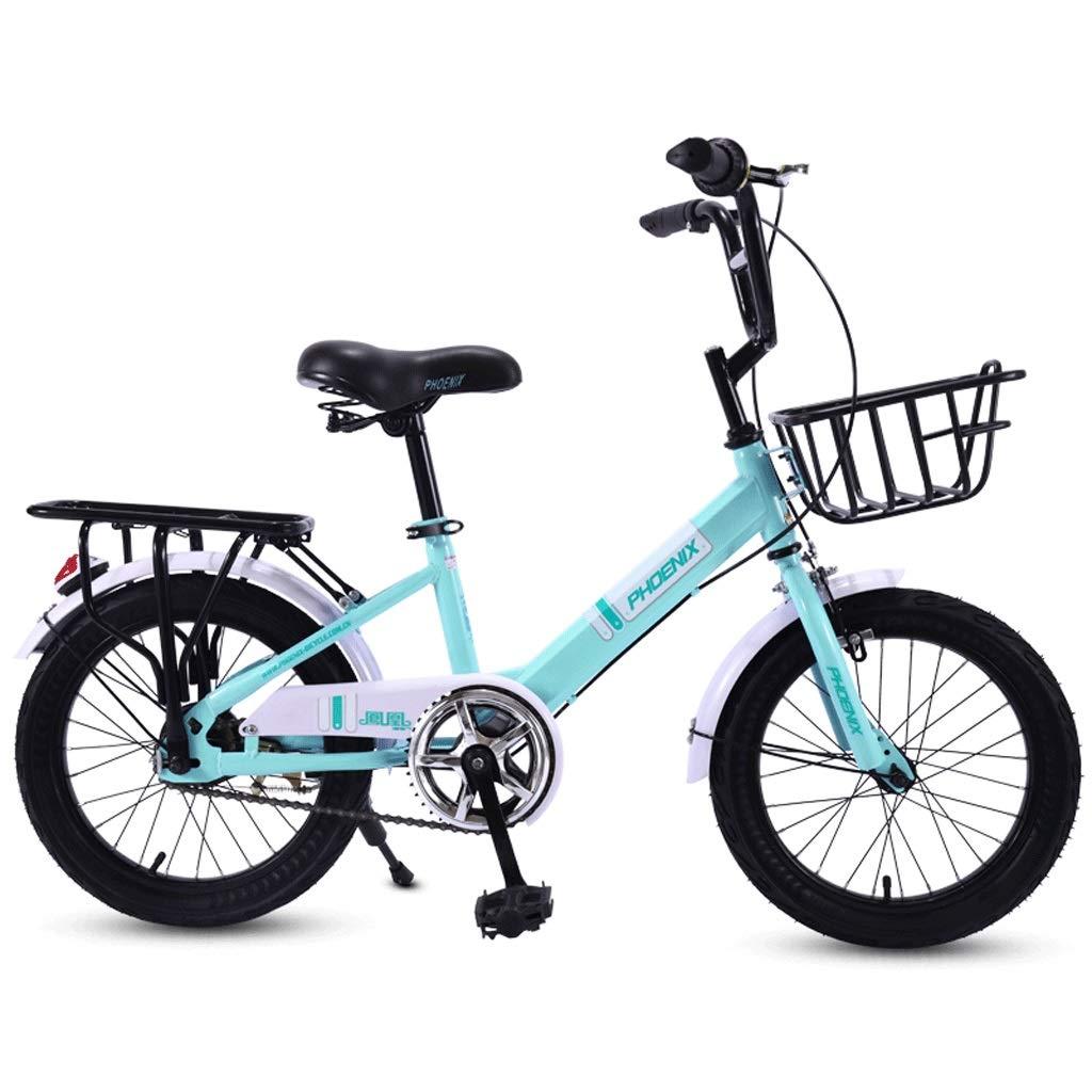 Bicicleta para niños de 16 Pulgadas, Carro de Escuela Primaria para niñas 6-7-8-10-15 años, Cochecito para niños, Hombres y Mujeres, Bicicleta Plegable Cesta de Metal, neumático Grueso A ++: Amazon.es: Deportes y