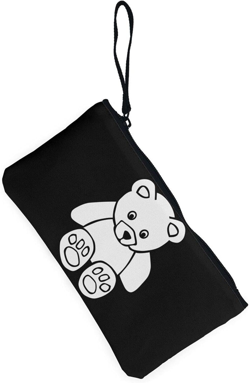 AORRUAM Cute Bear Canvas Coin Purse,Canvas Zipper Pencil Cases,Canvas Change Purse Pouch Mini Wallet Coin Bag