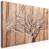 murando Wandbild Mega XXXL Baum 160x80 cm Einteiliger XXL-Format Kunstdruck zur Selbstmontage Leinwandbilder Moderne Bilder DIY Wanddekoration Wohnung Deko Holz Bretter b-C-0046-ak-g