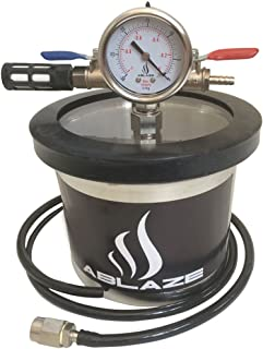 ABLAZE Small Mini 1.5 Quart Vacuum Chamber Stainless Steel Degassing Urethanes Silicone Epoxies