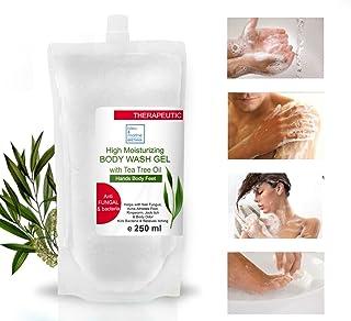 Recarga Jabón Ultra Hidratante Terapéutico con Aceite de Árbol de Té Purificante Anti hongos Anti Acné 250 ml - Gel de Baño - Gel de Ducha