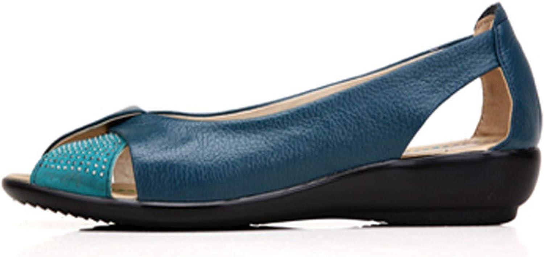 Tellusa Plus Size Summer shoes Women Genuine Leather Casual Wedges shoes Sandals Women's Pumps Women Sandals for Women