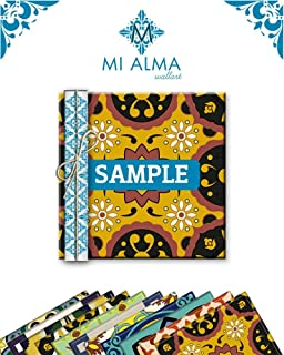 Mi Alma Different Random Styles Samples of 4 Units 4x4 Inch Backsplash Tile Stickers Talavera Tiles Stickers Bathroom & Kitchen Tile Decals Easy to Apply Just Peel and Stick