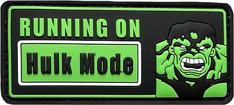 Running on Hulk Mode 3D PVC Rubber Morale Hook Patch