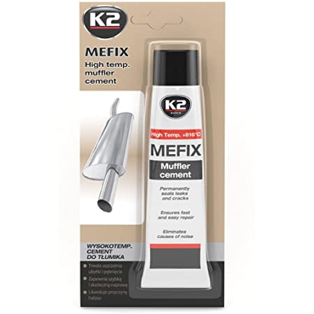 K2 Mefix Auspuff Zement Hochtemperatur Auspuff Reparatur Auspuff Dichtmasse Auspuffanlage Reparatur Zement Dichtstoff 140g Auto