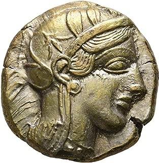 454 GR Ancient Greek Attica Athens BC Ancient Greek Attica 454-404 BC Tetradrachm Silver Coin UNC Athena/OWL Tetradrachm UNC BC