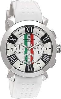[サルバトーレマーラ]Salvatore Marra 腕時計 ウォッチ イタリアブランド 立体インデックス ビジネス カジュアル ホワイト メンズ