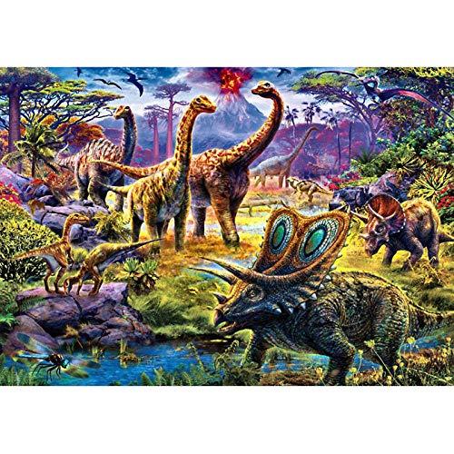 nobrand Puzzle 1000 Pezzi Dinosauri e Animali esotici Puzzle Puzzle di Legno Cartoon Puzzle per Bambini Giocattoli Giocattoli educativi Regali 75x50cm