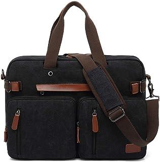 MRPLUM Convertible Backpack Multifunctional Canvas Shoulder Handbags Messenger Bag LaptopCase Fit 17inch Laptop Men/Women
