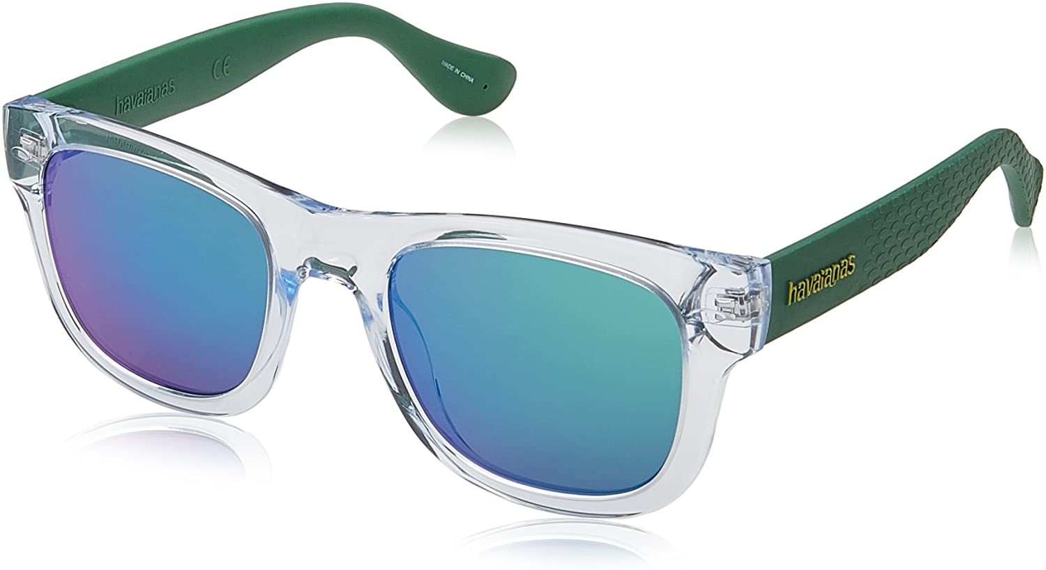 Havaianas Paraty m Square Sunglasses, CRY Green, 50 mm