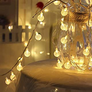 AtneP Balls String Lights for Home Decoration Party Festival Diwali Christmas (WarmWhite Color)