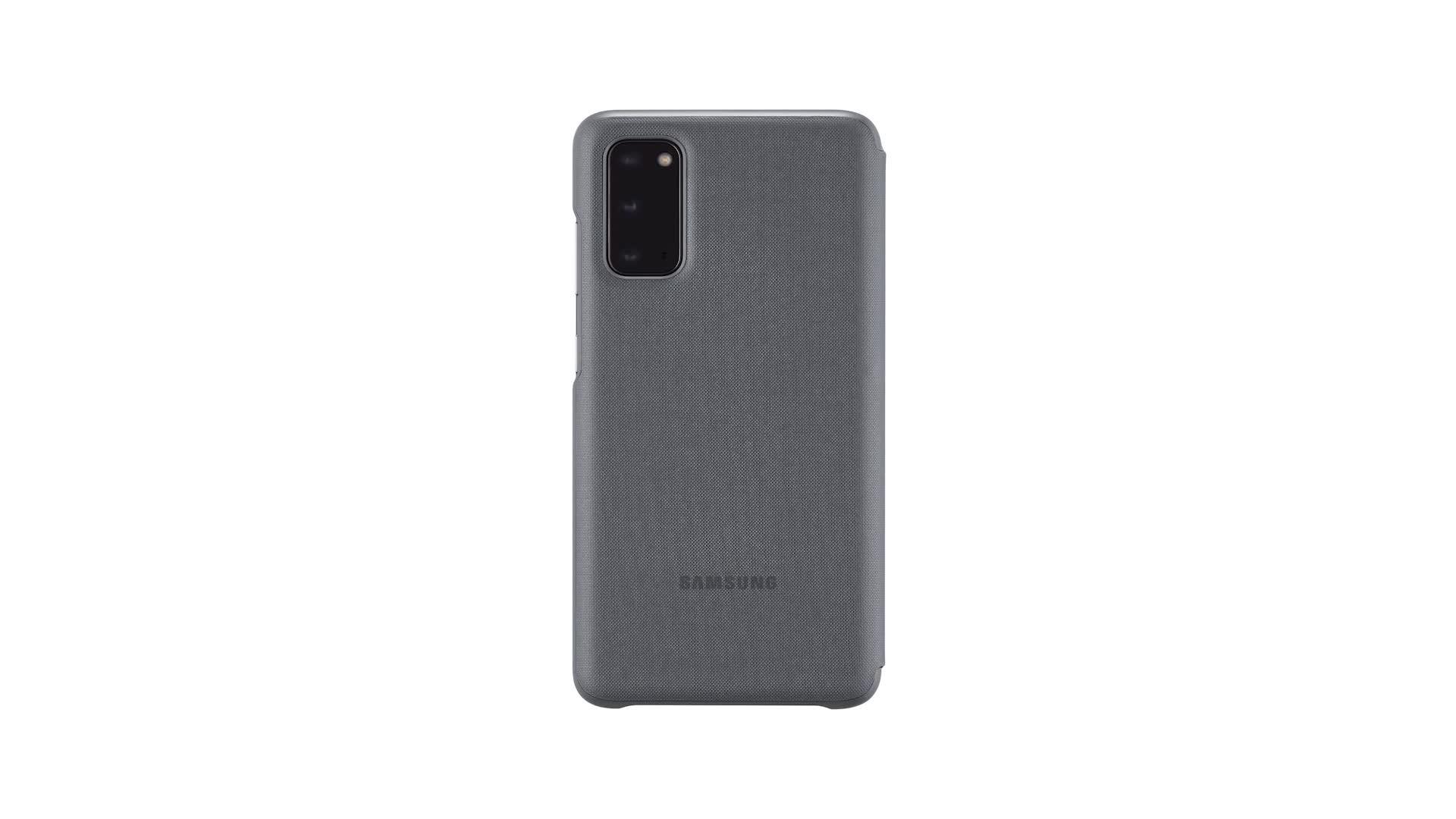 Samsung Led View Cover Ef Ng980 For Galaxy S20 S20 5g Gray Elektronik