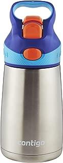Contigo AUTOSPOUT Straw Striker Chill Stainless Steel Kids Water Bottle,  10 oz,  Sapphire