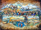 DIY 5D Jesus Christ Last Supper Diamond Painting by Number Kits for Adults Full Square Drill Embroidery Cross Stitch Crystal Rhinestone for Wall Decoration 50x40cm/19.8x15.8inch