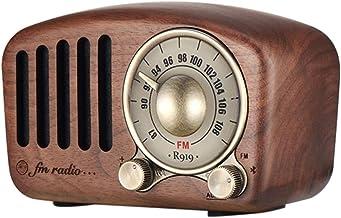 Vintage Radio Retro Bluetooth Speaker Walnut Wooden Fm Radio, Strong Bass Enhancement Loud Volume Bluetooth Aux Tf Card