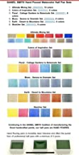 Daniel Smith Hand Poured Watercolor Half Pan Set of 6, with Bonus 9 Empty Half Pans, Colors of Inspiration I (285650003)