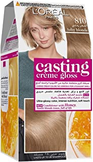 L'Oreal Paris Casting Creme Gloss 810 Ashy Blonde Haircolor 100 gm