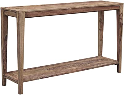 Amazon Com Vasagle Urbence Console Table Sofa Table With Iron Pipe Legs And 1 2 Inch Thick Table Top Easy Assembly Accent Table For Hallway Entryway Living Room Rustic Brown Furniture Decor