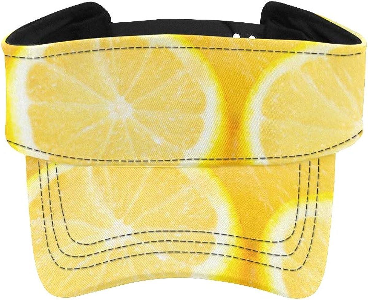 Men Max 85% OFF Hat Visor Japan's largest assortment A Piece of Yellow Women Juicy Lemon Fresh Sun