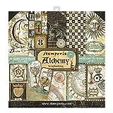 Stamperia Bloc de Scrapbooking 10 hojas 30.5x30.5 (12'x12') 2 caras - Alchemy, Papel, Multicolor, 30.5cmX30.5cm