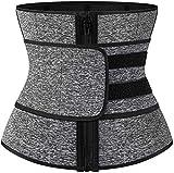 Cintura da Allenamento per Donna Cintura per Il Controllo della Pancia Vita Cincher Trimmer Sauna Sudore Dimagrante Body Shaper Allenamento Cintura Fascia per Il Ventre (Color : Gray, Size : L)