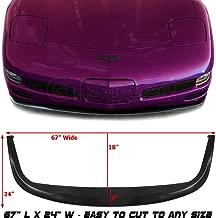 GT-Speed for 1997-2004 Chevrolet Chevy Corvette C5 CS Style PU Front Bumper Add on Lip Flat Splitter Plate Under Panel