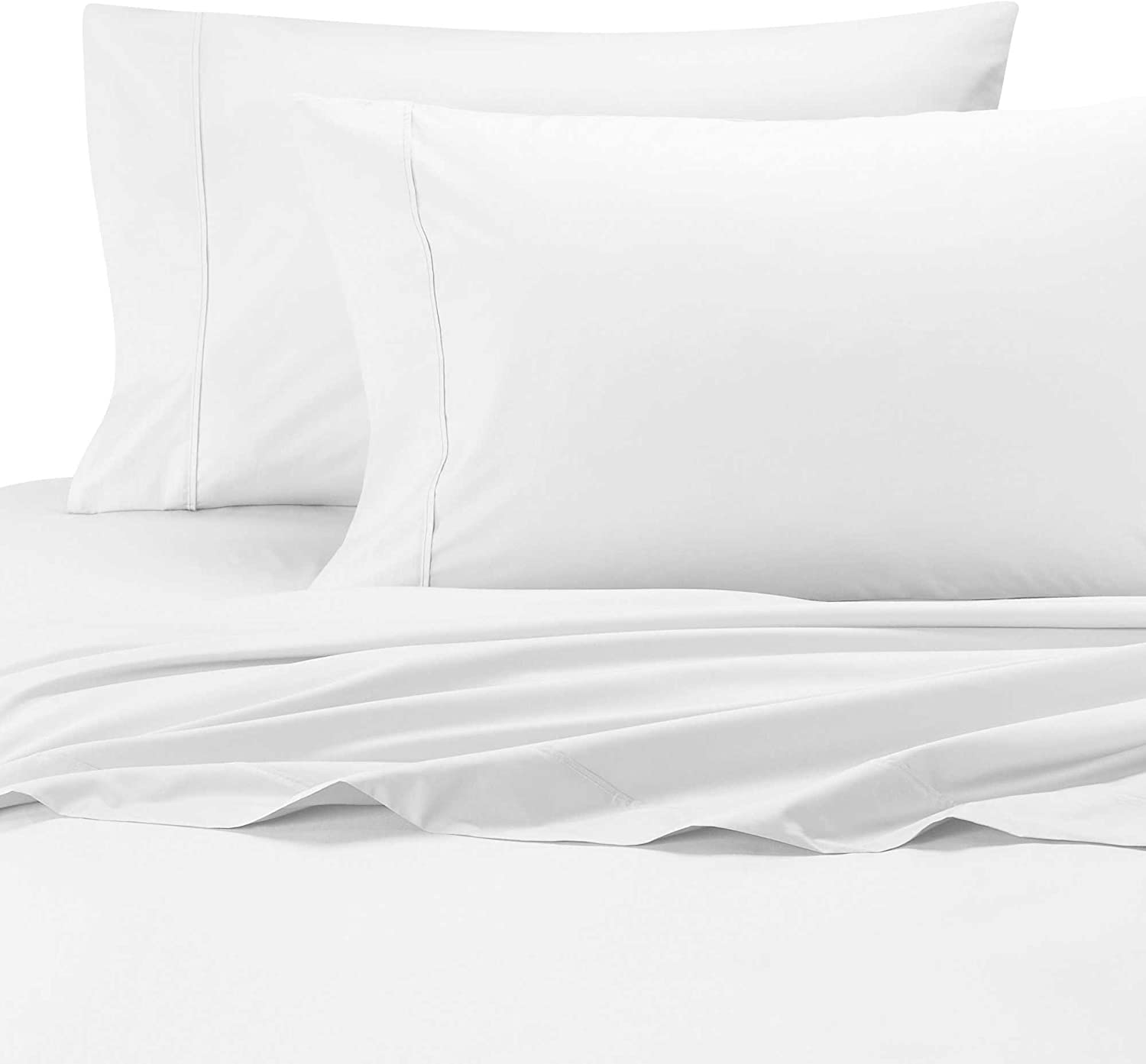 Wamsutta Cool Touch Percale Fitted Queen Sheet in White