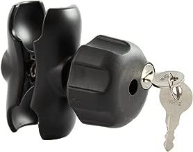 RAM MOUNTS (RAM-201U-BL Double Socket Arm with Small Size Locking Knob for 1.5
