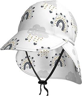 Lsjuee - Cappello da sole per bambini, traspirante, motivo: arcobaleno, per bambini