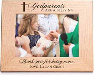 Lifetime Creations Engraved Personalized Godparent Picture Frame 5x7 Frame: Personalized Godparents Gift, Gift for Godmother Godfather