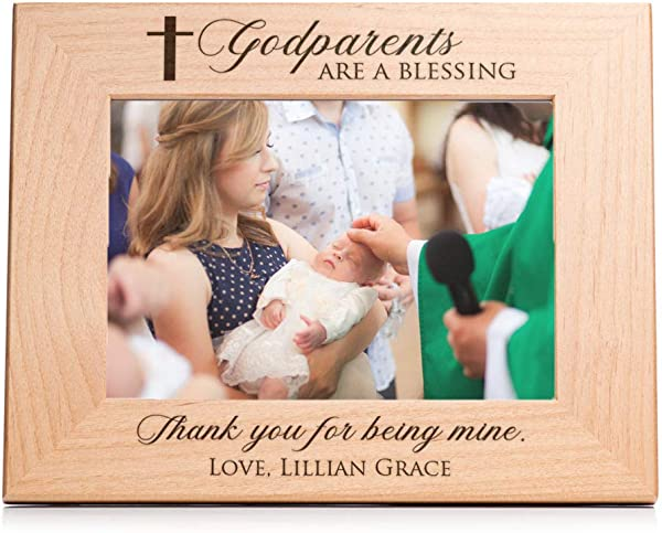Lifetime Creations Engraved Personalized Godparent Picture Frame 5x7 Frame Personalized Godparents Gift Gift For Godmother Godfather