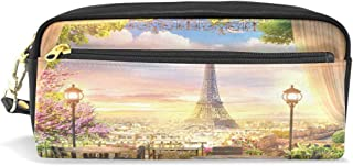 4 Astucci Vintage in Tela con Zip x Scuola Università Ufficio Torre Eiffel Paris