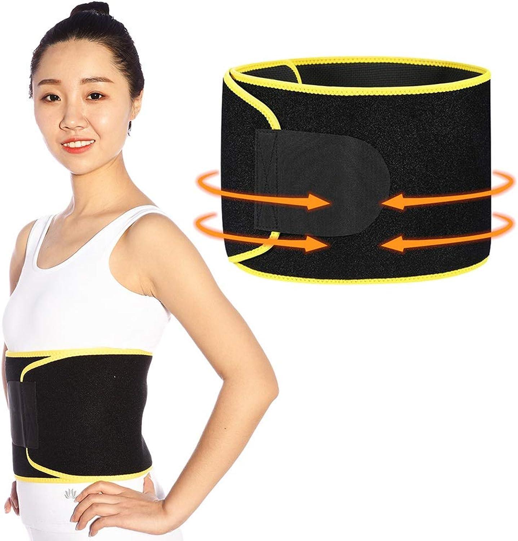 Waist trimmer Belt for Women  Premium Neoprene Sweat Waist Trainer Ab Belt  Waist Slimming Sauna Wrap for Workout Weight Loss (color   Yellow, Size   L)