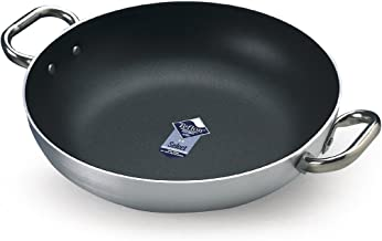 Pentole Agnelli Family Cooking Aluminium Crystal Omelette Pan with 2 Handles, Diameter 28 cm.
