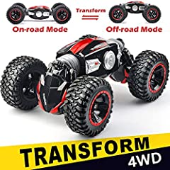 【2-Side driving 】: this new design RC cars allows you to drive on both sides. Enjoy the special driving experience. *** for more exciting car stunts, please enjoy the video on the product page.*** with a range of up to 260 feet and highly responsive ...
