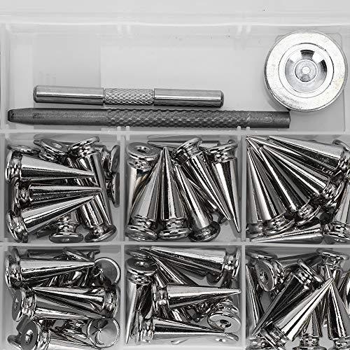 Remaches de tachuelas punk, no se decoloran Tachuelas punk portátiles fáciles de usar para bricolaje tienda de manualidades para el hogar