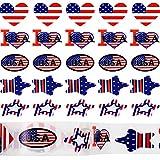 Zonon 1500 Pièces Autocollants Drapeau Américain Autocollants Patriotiques Stickers Autocollants USA pour Décoration de Fête des Anciens Combattants Fête de l'Indépendance (5 Styles)