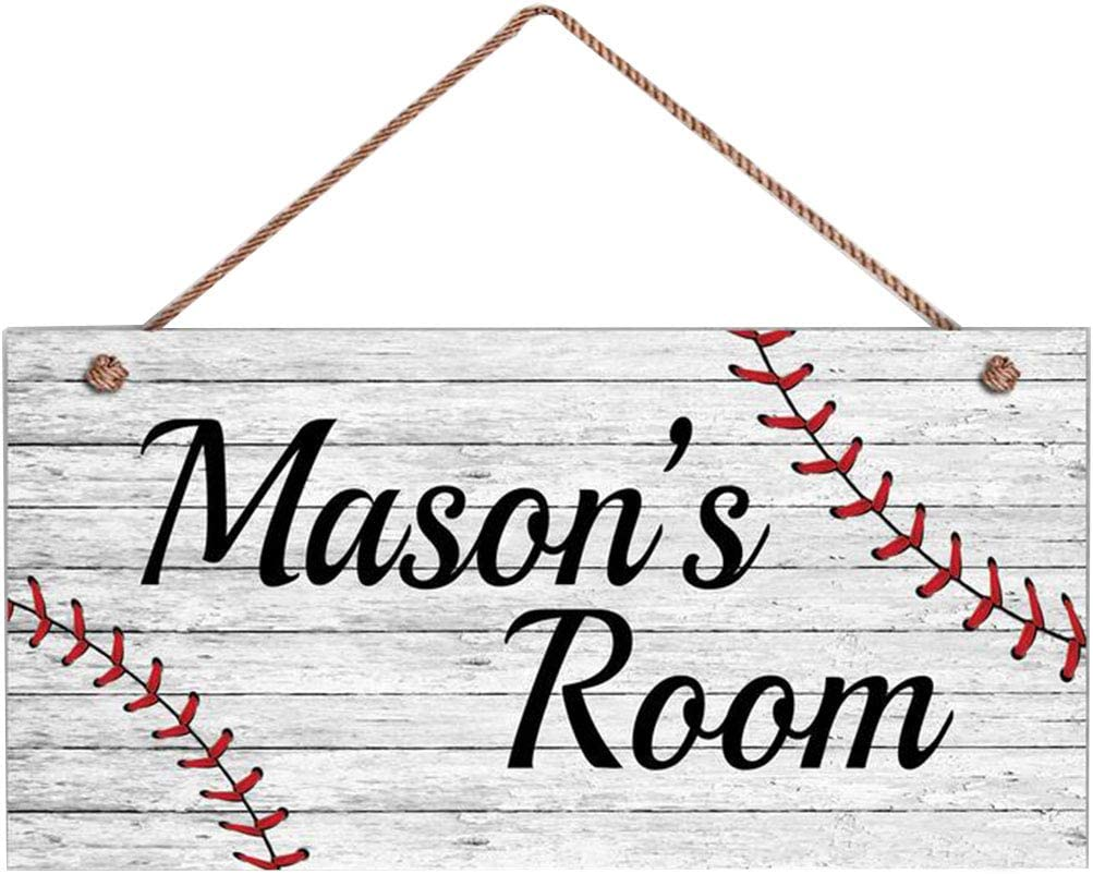 Baseball Sign Rustic Price reduction Sports Personalized Room Financial sales sale Kid's