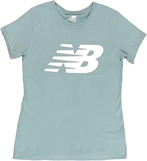 New Balance Womens Logo Graphic QT Crew Neck T-Shirt