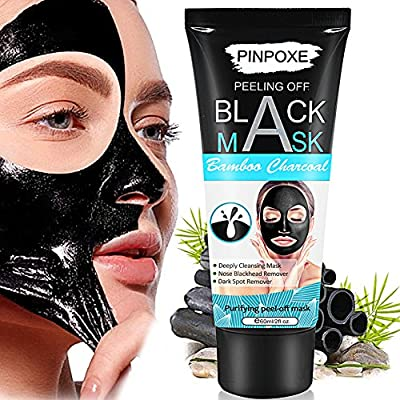 Charcoal Face Mask, Peel off Mask, Blackhead Mask, Black Mask, Blackhead Removal Mask, Charcoal Face Mask, Deep Cleaning Face Nose Activated Exfoliator Mask¡­ by Pinpoxe