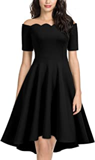 ada007b8b30 Miusol Women s Vintage Off Shoulder 1950 S Style Cocktail Party Dress  (Small
