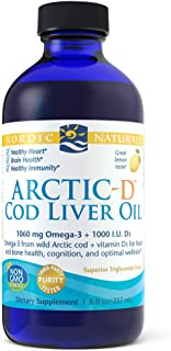 Nordic Naturals - Arctic-D CLO, Heart and Brain Health, and Optimal Wellness, Lemon, 8 Ounces