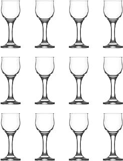 LAV Nevakar Stemmed Liqueur/Schnapps Glasses, 55ml - Pack of 12