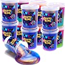 Magictoy 24 Packs Colorful Galaxy Slime, Stretchy & Non-Sticky,Christmas Stocking Stuffers Party Favors for Kids, Sensory and Tactile Stimulation, Stress Relief, Educational Game, for Girls & Boys